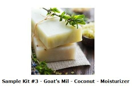 COLD PROCESS SOAP SAMPLER KIT #3 - GOAT'S MILK, COCONUT, AND MOISTURIZER