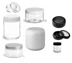 White Plastic Jars | Clear Plastic Jars | Cosmetic Jars