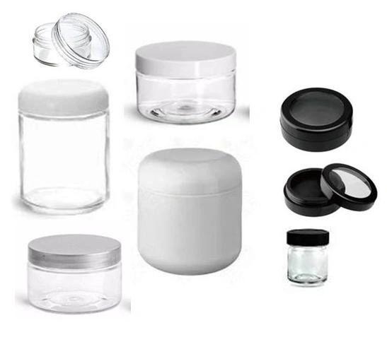 White Plastic Jars | Clear Plastic Jars | Cosmetic Jars