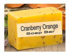 Cranberry Orange Natural Soap Bar - 2.5 oz