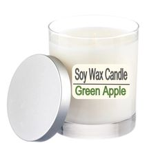 A Pure Soy Wax Candle Green Apple - 12 ounce Jar