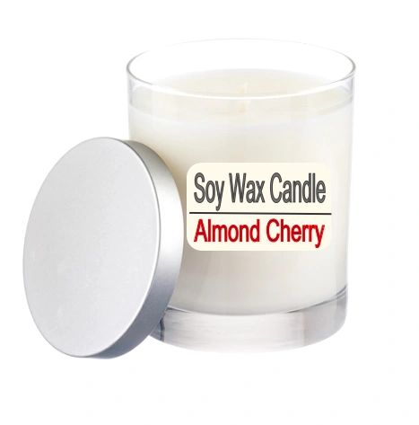 A Pure Soy Wax Candle Almond Cherry - 12 ounce Jar