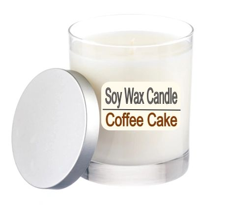 A Pure Soy Wax Candle Coffee Cake - 12 ounce Jar