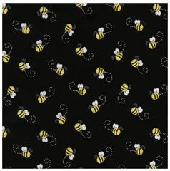 Fabric For Beeswax Wraps - 100 % Cotton | Bees On Black