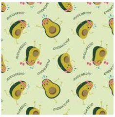 Fabric For Beeswax Wraps - 100 % Cotton   Green Avacardio