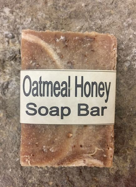 Oatmeal Honey Handcrafted Natural Soap Bar - 2.5 ounce