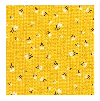 Fabric For Beeswax Wraps - 100 % Cotton | Yellow Bee Pattern