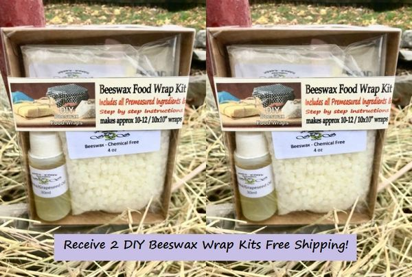 Beeswax Wraps Kits Kingston Ontario Canada Free Shipping - Double Pack