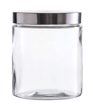 b Glass Candle Jars with Silver Lid 12 ounce