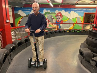 Learning to ride a Segway during a Segway Experience session at JDR Karting & Activity Centre