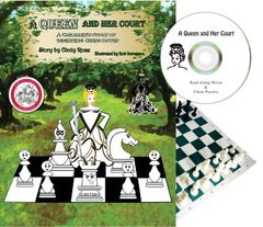 Winner of a Parents' Choice Approved Award: A Queen & Her Court: w/CD & Chess Set