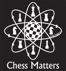 Chess Matters - White Matter Chess Atom, T-shirt