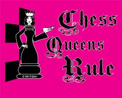 Chess Queens Rule - Black Queen, Women girls chess shirt