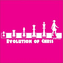 Evolution Chess Girl, Women in chess,t-shirt