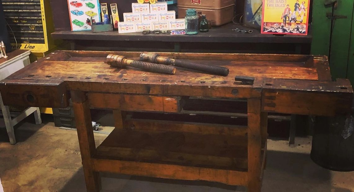 Workbench, industrial, interior design, home decor, vintage, antique