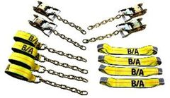 BA Products 38-200C 8 Point Tie Down System with Chains on Ratchets and Straps
