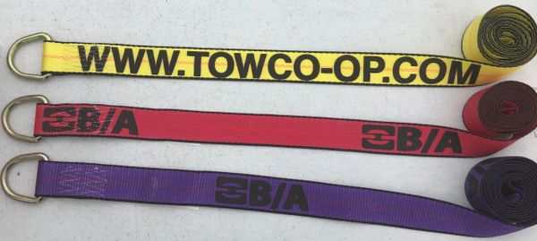 Set of 10 Lasso Straps (red, yellow or purple) 2″ Strap with D Ring