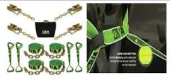 BA Products Hi-Viz 8 Point Tie Down System with Chains on Ratchets and Straps #HV38-200C
