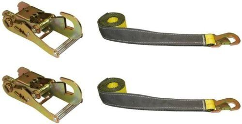 BA Products 38-3D (2), 38-22D (2), Set of Two OEM Straps & Two Ratchet with Snap Hooks for Dynamic, Century, Vulcan Auto Loader Wheel Lifts
