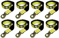 BA Products 38-3D Set of 8 Straps with Snap Hooks for Dynamic, Century, Vulcan Auto loader Wheel Lifts, Wreckers, Tow Trucks