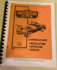 1978 Ernest Holmes 1200 Commander Wrecker heavy duty Tow truck Service Manual