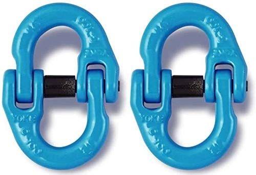 "(2) 3/8"" Gr 100 Coupling Link Hammerlock Chain Connector"
