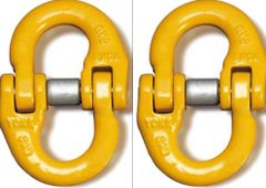 """(2) BA Products G8-103-38 - 3/8"""" Yoke Alloy Connector Link Coupling Link Hammer Lock"""