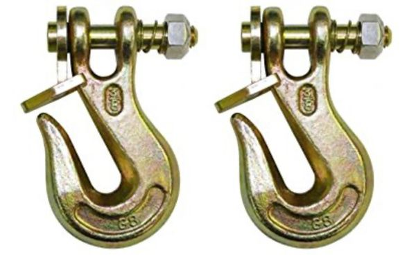 "(2) 1/4"" Grade 80 twist lock grab hook HD latch kit"