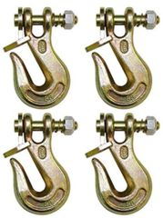 "(4) 1/4"" Grade 80 twist lock grab hook HD latch kit"