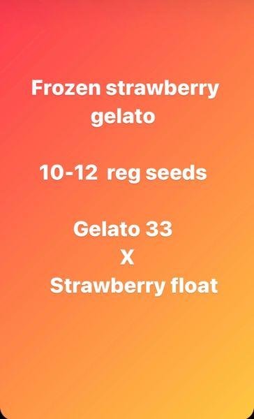 Frozen strawberry gelato
