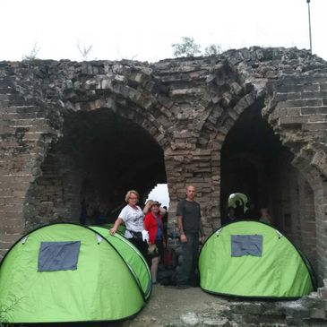 Camping on the Wall by Great Wall Adventure Club