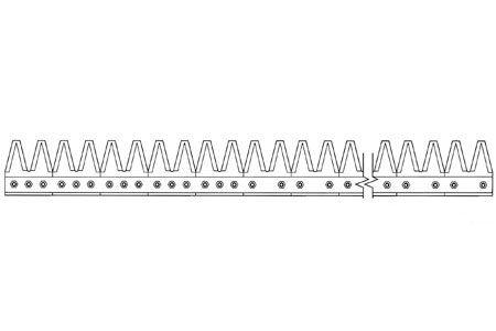 GFI802-264 15' Chrome 11ga Top Serrated, Bolt-On