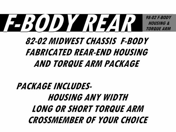 82-02 F-Body Fabricated Nine Inch Housing & Torque Arm Package