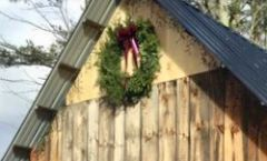 "Woodside - 36"" Extra Large Wreath - Burgundy Bow - Wall Size"