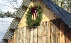 "MCYHA - 36"" Extra Large Wreath - Burgundy Bow - Wall Size"