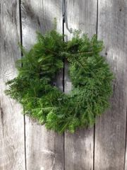 "MCYHA - 24"" Plain Wreath - No Bow - Door size"