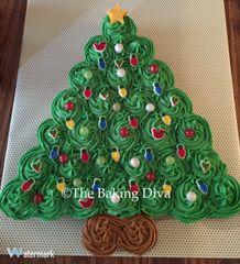 Christmas Tree Cupcake Cake