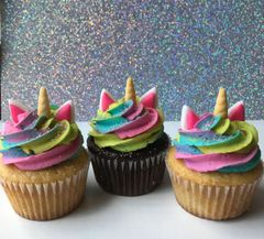 Rainbow Unicorn Cupcake