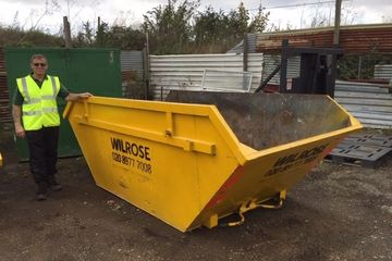 8 yard skip for hire for general waste and clearances.