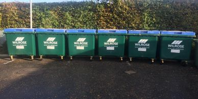Dry Mixed Recycling 1100L bins in Surrey.