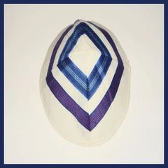 Kippah Wool Purple/Blues, Made In Israel