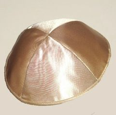 Kippah Satin Lined w/Band in Assorted Colors, Available In Gold, Silver, and Lavender