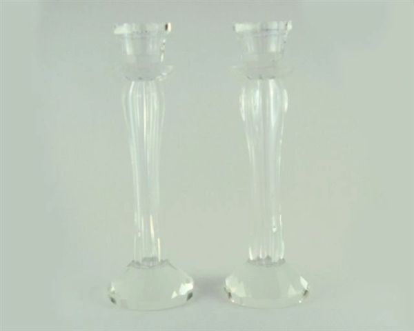 Candleholder Glass Elegant 8.75 Inches H X Base 2.75 Inches Diam