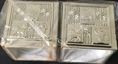 Tefilin Covers Large in Silver Plated