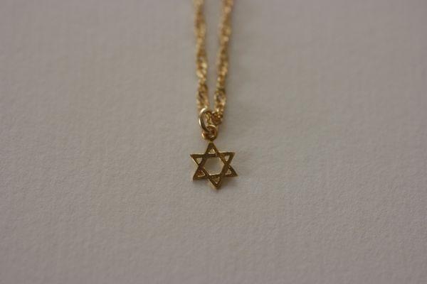 """Charm Mini Star of David 1/4"""" - 24 Kt Gold Filled"""
