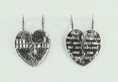 Charm Mitzpah Heart Sterling Silver