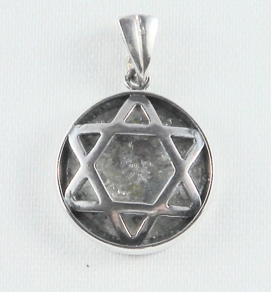 Star of David Roman Glass Sterling Silver Charm - Made in Israel