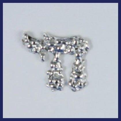 Tie Tack Chai - Silver