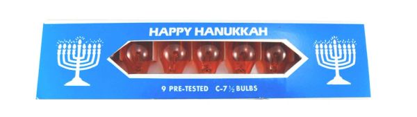 Orange Bulbs Replacements for Menorah Pack of 9