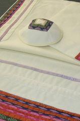 "Talit Set Multi 18"" x 72"" - Talit, Bag and Kipah by Eretz Fashionable Judaica"